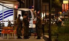 Forţe de ordine, la locul atacului din Bruxelles, de vineri, 25 august 2017 (Foto: Reuters/Eric Vidal)