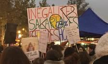 Manifestatie în Franta împotriva inegalitatilor salariale