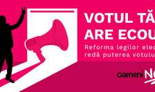 Campanie cetăţenească de reformă electorală (Sursa foto: oameni-noi.ro)