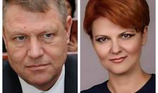 Klaus Iohannis și Lia Olguța Vasilescu