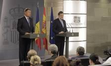 Klaus Iohannis şi Mariano Rajoy, la conferinţa de presă de la Palatul Moncloa