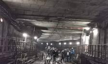 Protest la metrou, vineri, 26 martie 2021 (Sursa foto: Facebook/Unitatea-Sindicatul Liber din Metrou)