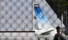 Avionul iranian care l-a adus pe Mohammad Javad Zarif, ministrul de externe al Teheranului, la Biarritz
