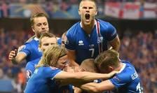 Islandezii sărbătoresc golul lui Kolbeinn Sigthorsson (Foto: AFP)