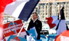 Jean-Luc Mélenchon pe 9 aprilie 2017 la Marsilia