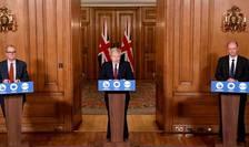 Boris Johnson la o conferință de presă
