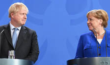 Boris Johnson și Angela Merkel
