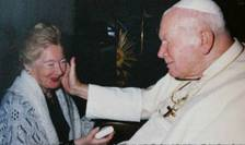 Papa Ioan-Paul al II-lea si Anna-Teresa Tymieniecka la Vatican