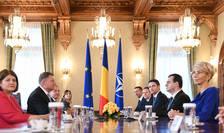Klaus Iohannis și delegația PNL, aici la consultările de vineri de la Cotroceni (Sursa foto: presidency.ro)