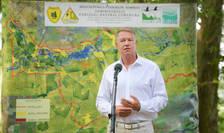 Președintele Klaus Iohannis, aici în Parcul Natural Comana, 4 august 2021 (Sursa foto: presidency.ro)