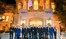 Poză de grup, la summit-ul Iniţiativei celor Trei Mări, de la Bucureşti (Sursa foto: presidency.ro)