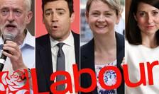 De la stânga Jeremy Corbyn, Andy Burnham, Yvette Cooper, Liz Kendall