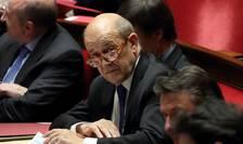 MAE francez Jean-Yves Le Drian în Parlament, pe 20 februarie 2018