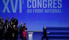 Marine Le Pen, presedinta Frontului national, pe 11 martie 2018 la congresul partidului de la Lille