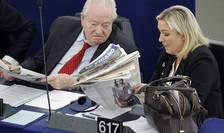 Jean-Marie si Marine Le Pen în Parlamentul european