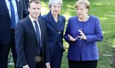 Preşedintele francez, premierul britanic şi cancelarul german, la Sofia (Foto: AFP/Ludovic Marin)
