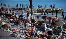 Locul unde s-a produs atacul cu camion- Promenade des Anglais, Nisa, la exact un an dupa teribilul eveniment, 14 iulie 2017.