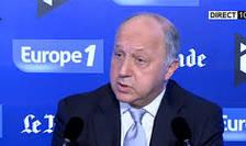 Laurent Fabius, ministrul francez de externe, la microfonul colegilor nostri de la Europe 1