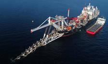 Lucrari de instalare a unor conducte puteau fi vazute în noiembrie 2018 în Marea Baltică pentru construcția gazoductului Nord Stream 2.