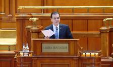 Ludovic Orban, la dezbaterile din Parlament, asupra moțiunii de cenzură (captură video)
