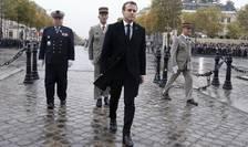 Emmanuel Macron la ceremonia de la Arcul de Triumf, 8 mai 2019.