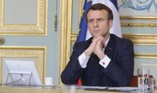 Presedinte Frantei, Emmanuel Macron, la Palatul Elysée.