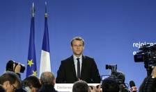 Emmanuel Macron în momentul declaratiei sale de candidaturà la prezidentialele din 2017