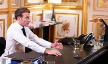"""Emmanuel Macron, presedintele Frantei, în timpul interviului acordat lui """"Le Grand Continent""""."""