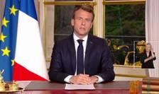 Presedintele francez Emmanuel Macron la palatul Elysée, 16 aprilie 2019
