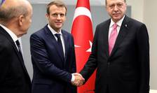 Emmanuel Macron si Recep Tayyip Erdogan în septembrie 2017 la ONU