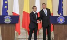 Presedintii Emmanuel Macron si Klaus Iohannis la Bucuresti, 24 august 2017