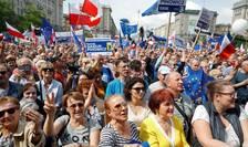Manifestatia  «Polonia în Europa»,  Varsovia, 18 mai 2019.