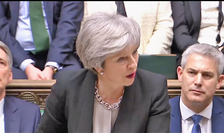 Theresa May în Camera Comunelor
