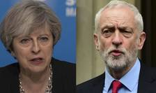 Theresa May și Jeremy Corbyn