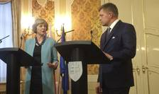 Theresa May și Robert Fico