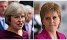 Theresa May și Nicola Sturgeon