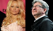 Actrita Pamela Anderson îl sprijinà pe stângistul Jean-Luc Mélenchon la prezidentialele din Franta