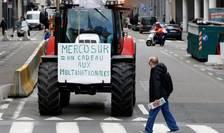 Proteste ale agricultorilor, la Bruxelles, în ianuarie 2018, împotriva tratatului de liber schimb UE - MERCOSUR