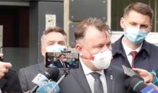 Ministrul Nelu Tătaru dând declarații
