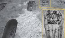Scheletele a doi bărbați ținându-se de mână, descoperite la Modena (Sursa foto: site Scientific Reports)