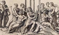 """Afiș Expoziția """"Invenit / sculpsit. Gravura italiană din secolele XV-XVI"""" , MNAR 2018"""