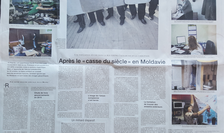 Pagina dublà de analizà si reportaj despre Republica Moldova din Le Monde Diplomatique, octombrie 2016