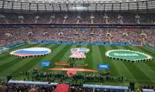Ceremonia de deschidere a Campionatului mondial de fotbal 2018 pe stadionul Lujniki din Moscova, 14 iunie 2018