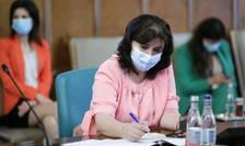 Monica Anisie, aici în ședință de Guvern (Sursa foto: gov.ro)