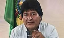 Evo Morales, la televiziune pe 10 noiembrie 2019, anuntându-si demisia de la presedintia Boliviei