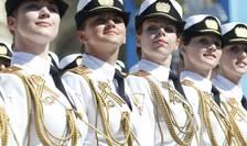 Pentru prima datà femei militare au participat pe 9 mai 2016 la Moscova la defilarea de ziua victoriei contra Germaniei naziste