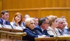 Premierul Viorica Dăncilă, în Parlament (Sursa foto: gov.ro)