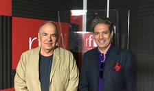 Gabriel Liiceanu și Nicolas Don in studioul RFI Romania