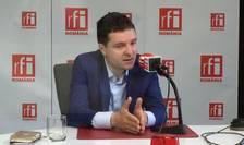 Nicuşor Dan, în studioul RFI (Foto: Amedeo Achim/arhivă)