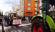 Manifestatie a agricultorilor francezi la Paris în septembrie 2015
